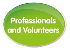 Professionals and volunteers